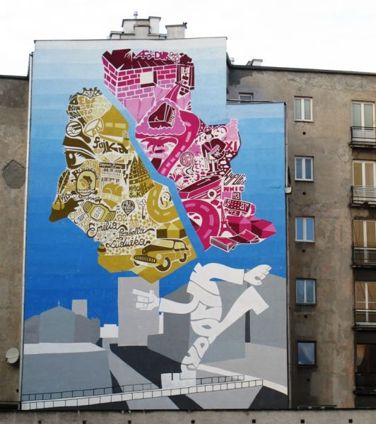 Graffiti pour Fryderyk Chopin à Varsovie. dans Graffiti fredekykchopingraffiti