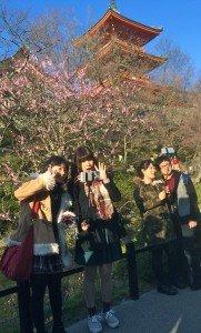 Kyoto temple - selfie 2