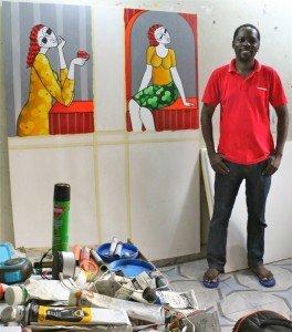 Tolu Aliki dans son studio
