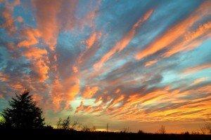 Coucher de soleil 20 dec 2015